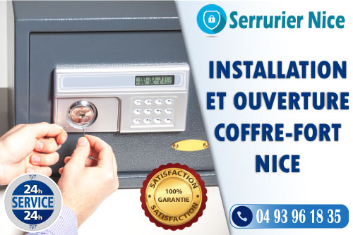 Installation et ouverture coffre-fort Nice